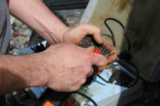 Oiling the razor